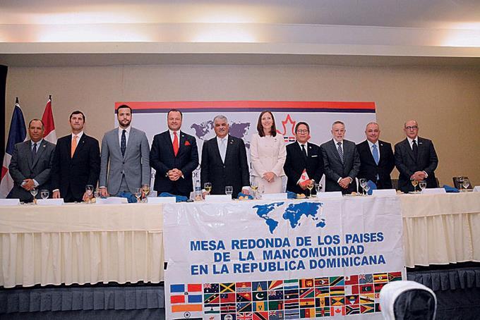 Conferencia. En el encuentro de la Mesa Redonda de los Países de la Mancomunidad en República Dominicana y la Cámara de Comercio Domínico Canadiense (CanchamRD), participaron actores relacionados con la diplomacia, la industria y el comercio de ambas naciones.