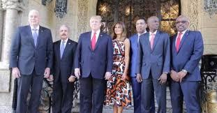 Donald Trump se reúne con líderes caribeños