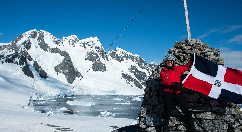 Primera dominicana en llegar a la Antártida