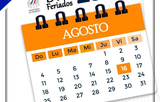 """Ministerio de Trabajo reitera viernes 16 de agosto """"no se trabaja"""""""