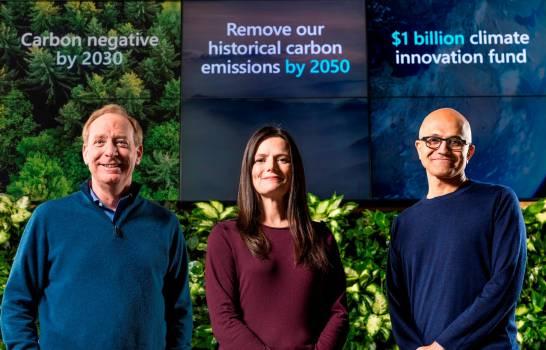 Presidente de Microsoft: se incentivará a proveedores en la lucha climática
