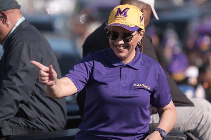 Margarita Cedeño llama a teñir las urnas de morado el próximo domingo