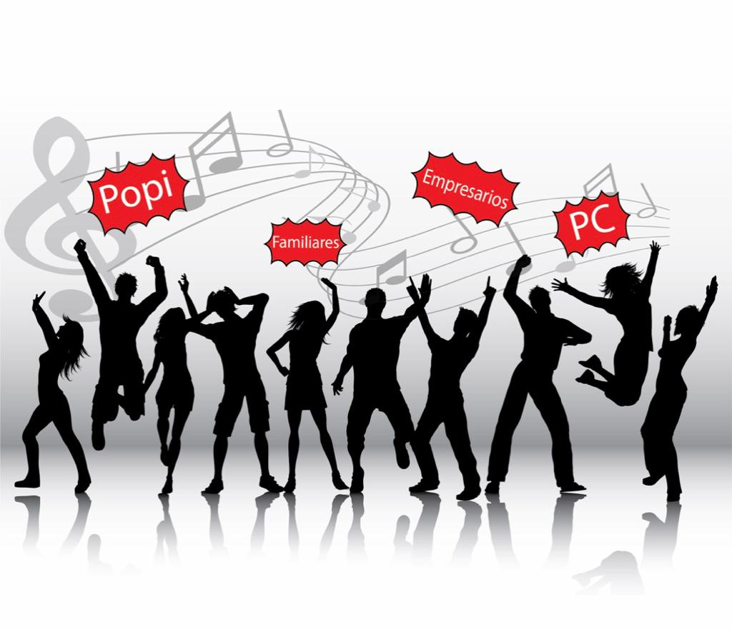 """Empresarios, familiares, PC y """"popis"""" bailando a ritmo del cambio"""