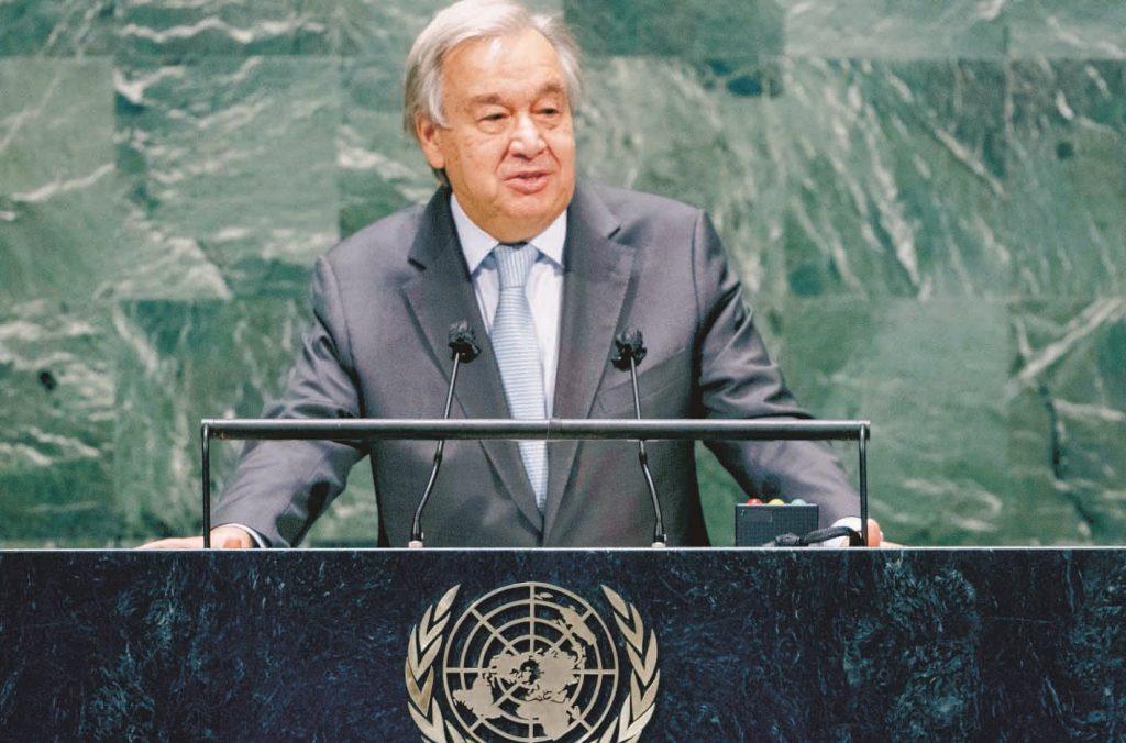 Jefe de la ONU cuestiona falta de unidad frente la pandemia