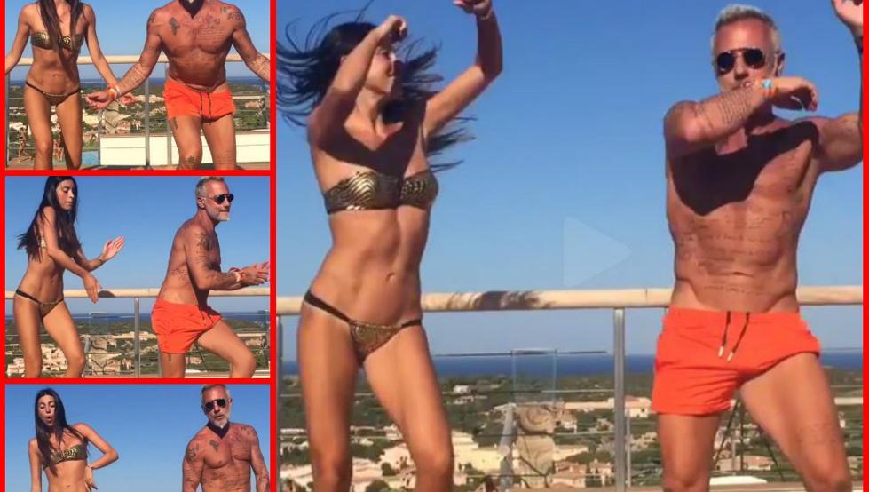 """Thalía y Gianluca Vacchi se unen a la fiebre del """"Omega challenge"""""""