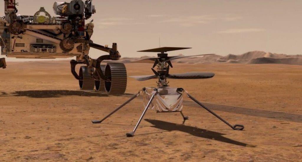 El helicóptero de la NASA Ingenuity, hace historia al volar por primera vez en Marte
